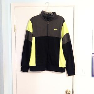 Nike Colorblock Neon Athletic Zip Up Jacket
